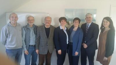 Gespräch Landtagsabgeordnete Amtsdirektorin und Gemeindenn
