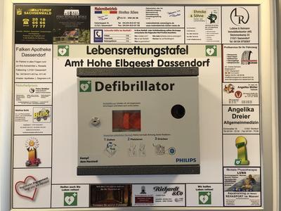 Defibrillator Nebengebäude Amt Hohe Elbgeest