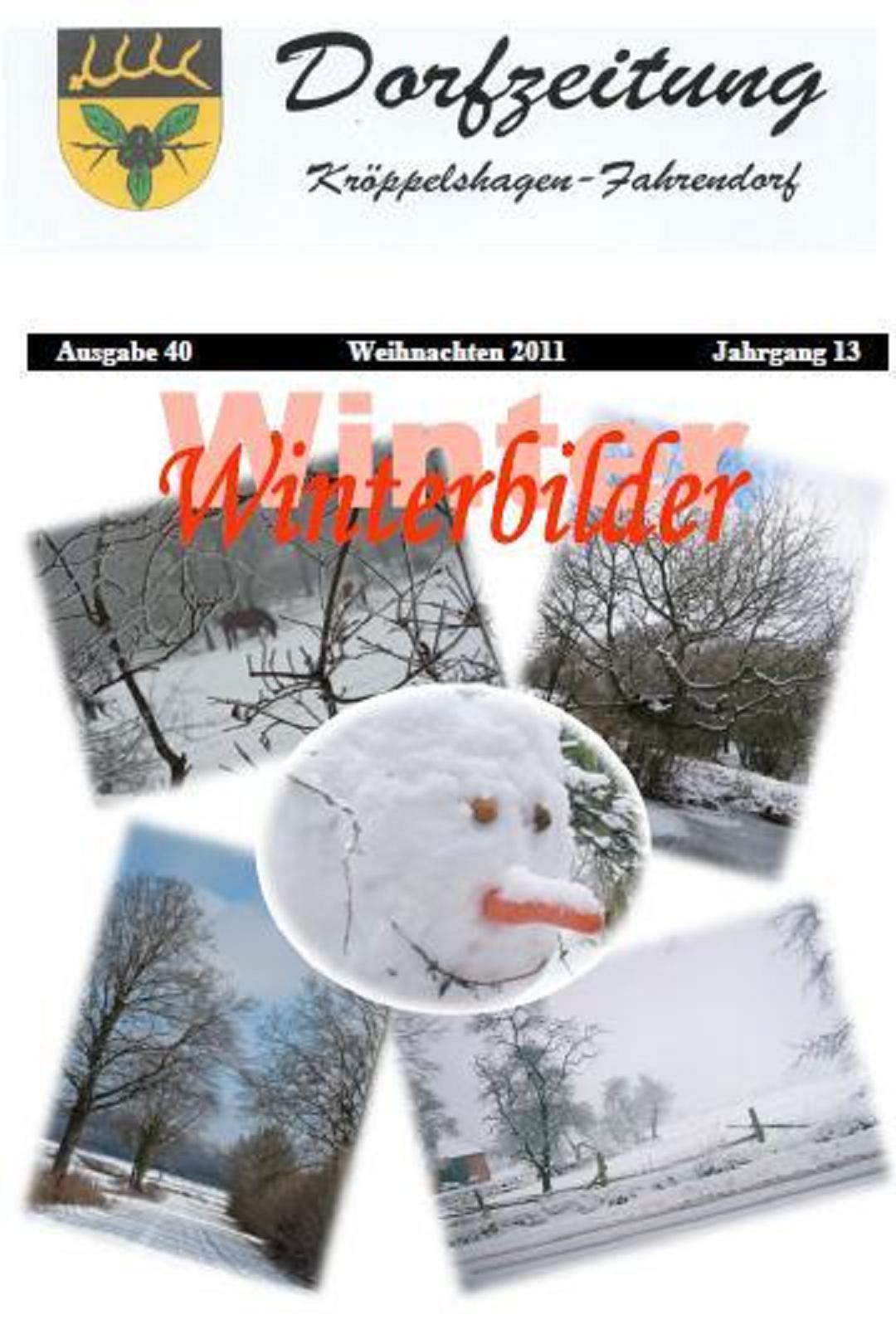 Ausgabe 40 Weihnachten 2011 Jahrgang 13