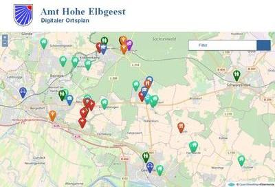 Externer Link: Digitaler Ortsplan Amt Hohe Elbgeest